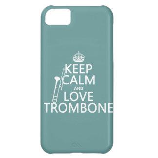 Behalten Sie Ruheund LiebeTrombone (irgendeine iPhone 5C Hülle