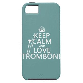 Behalten Sie Ruheund LiebeTrombone (irgendeine Tough iPhone 5 Hülle
