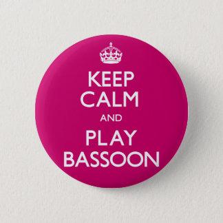 Behalten Sie Ruheund SpielBassoon (machen Sie) Runder Button 5,7 Cm
