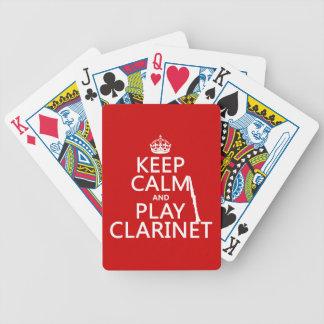 Behalten Sie Ruheund SpielClarinet (irgendeine Bicycle Spielkarten