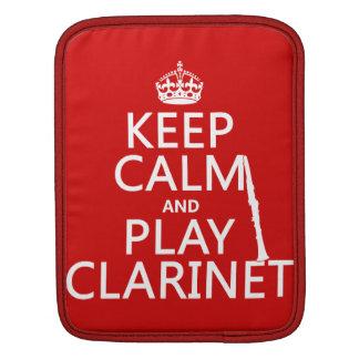 Behalten Sie Ruheund SpielClarinet (irgendeine iPad Sleeve