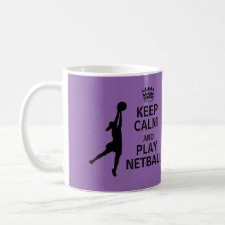 Behalten Sie Ruheund SpielNetball Kaffeetasse