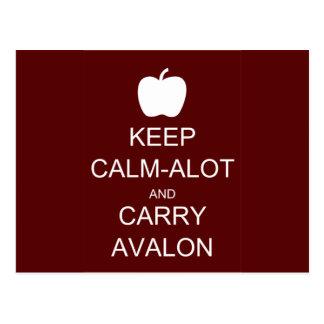 Behalten Sie Ruhig-Alot und tragen Sie Avalon Postkarte