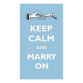Behalten Sie ruhig, auf Hochzeits-Geschäft zu Visitenkartenvorlage