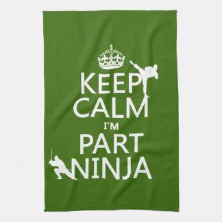 Behalten Sie ruhig ich ist Teil Ninja (in Geschirrtuch