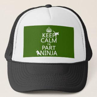 Behalten Sie ruhig ich ist Teil Ninja (in Truckerkappe
