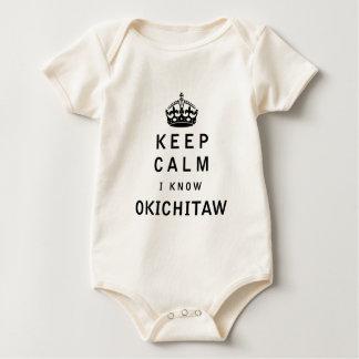 Behalten Sie ruhig ich kennen Okichitaw Baby Strampler