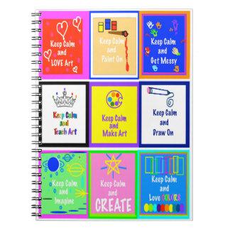 Behalten Sie ruhig - Kunst-Notizbuch v2 Spiral Notizblock
