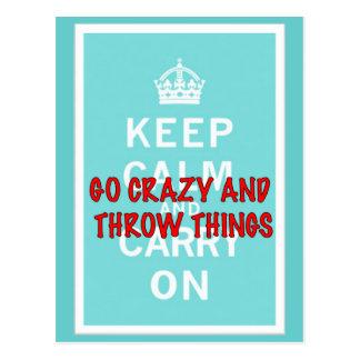 Behalten Sie ruhig, Throw-Sachen Postkarte