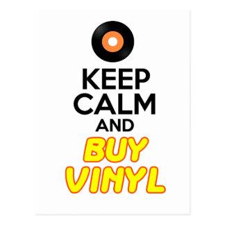 Behalten Sie ruhig u. kaufen Sie Vinyl Postkarte