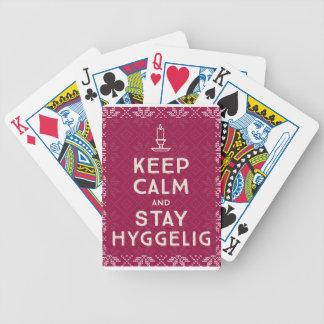 Behalten Sie ruhig und Aufenthalt Hyggelig Bicycle Spielkarten