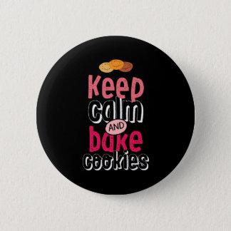 Behalten Sie ruhig und backen Sie das Runder Button 5,7 Cm