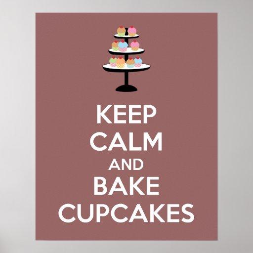 Behalten Sie ruhig und backen Sie Kuchen-Plakat-Dr