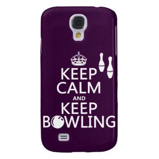 Behalten Sie ruhig und behalten Sie Bowling - alle Galaxy S4 Hülle