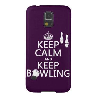 Behalten Sie ruhig und behalten Sie Bowling - alle Samsung Galaxy S5 Hülle