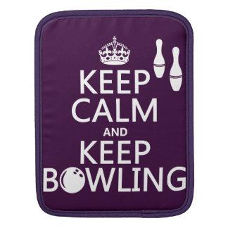 Behalten Sie ruhig und behalten Sie Bowling - alle Sleeve Für iPads