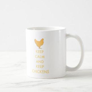Behalten Sie ruhig und behalten Sie Hühner Kaffeetasse