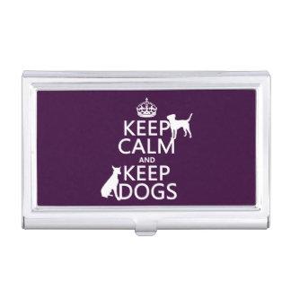 Behalten Sie ruhig und behalten Sie Hunde - alle Visitenkarten Dose