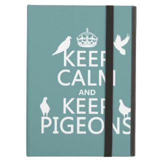 Behalten Sie ruhig und behalten Sie Tauben - alle