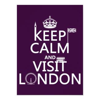 Behalten Sie ruhig und Besuch London Karte