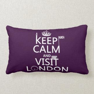 Behalten Sie ruhig und Besuch London Lendenkissen