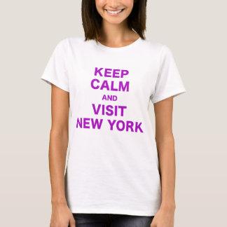 Behalten Sie ruhig und Besuch New York T-Shirt