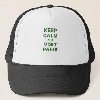 Behalten Sie ruhig und Besuch Paris Truckerkappe