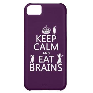 Behalten Sie ruhig und essen Sie Gehirne (Zombies) iPhone 5C Hülle