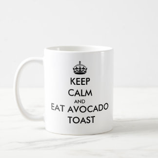 Behalten Sie ruhig und essen Sie Kaffeetasse