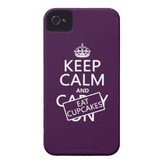 Behalten Sie ruhig und essen Sie kleine Kuchen iPhone 4 Case-Mate Hüllen