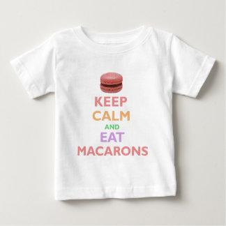 Behalten Sie ruhig und essen Sie Macarons Baby T-shirt