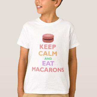 Behalten Sie ruhig und essen Sie Macarons T-shirt