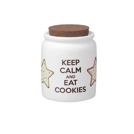 Behalten Sie ruhig und essen Sie Plätzchen-Miniplä Plätzchendosen