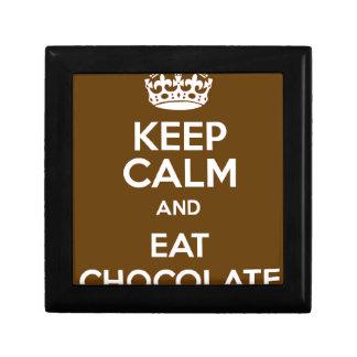 Behalten Sie ruhig und essen Sie Schokolade Geschenkbox