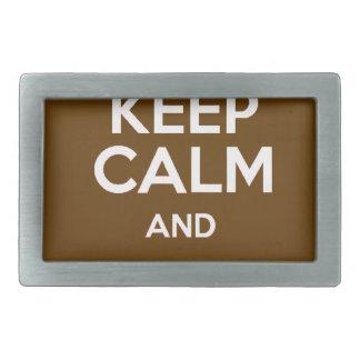 Behalten Sie ruhig und essen Sie Schokolade Rechteckige Gürtelschnalle