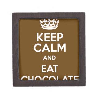 Behalten Sie ruhig und essen Sie Schokolade Schmuckkiste
