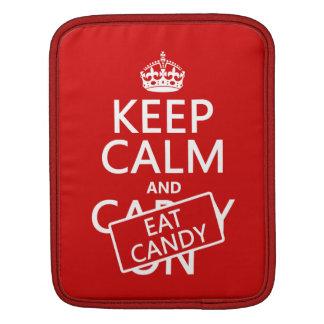 Behalten Sie ruhig und essen Sie Süßigkeit Sleeve Für iPads