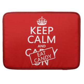 Behalten Sie ruhig und essen Sie Süßigkeit Sleeve Für MacBooks