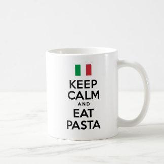 Behalten Sie ruhig und essen Sie Teigwaren-Tasse Kaffeetasse