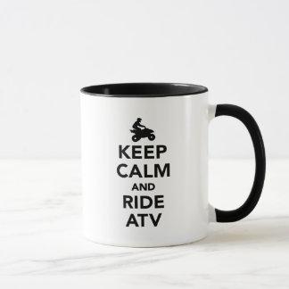 Behalten Sie ruhig und Fahrt ATV Tasse