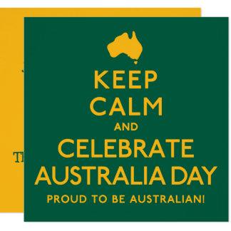Behalten Sie ruhig und feiern Sie Australien-Tag! Karte