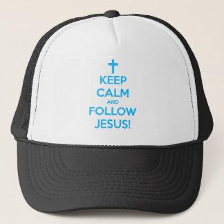 Behalten Sie ruhig und folgen Sie Jesus Truckerkappe
