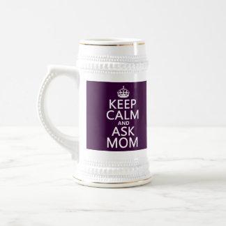 Behalten Sie ruhig und fragen Sie Mamma - alle Bierglas