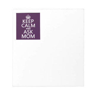 Behalten Sie ruhig und fragen Sie Mamma - alle Notizblock