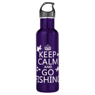 Behalten Sie ruhig und gehen Sie zu fischen Trinkflasche