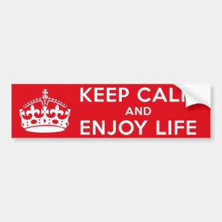 Behalten Sie ruhig und genießen Sie das Leben Autoaufkleber
