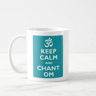 Behalten Sie ruhig und Gesang OM Kaffeetasse