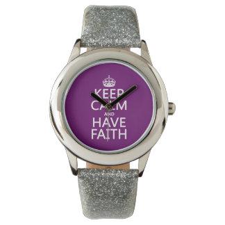 Behalten Sie ruhig und haben Sie Glauben Armbanduhr