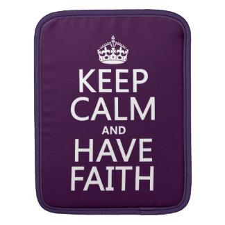 Behalten Sie ruhig und haben Sie Glauben Sleeve Für iPads