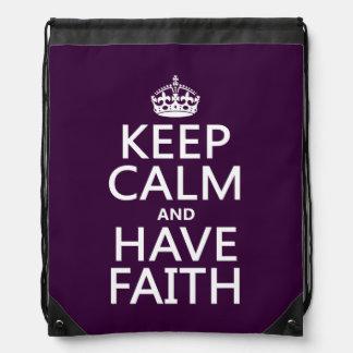 Behalten Sie ruhig und haben Sie Glauben Sportbeutel